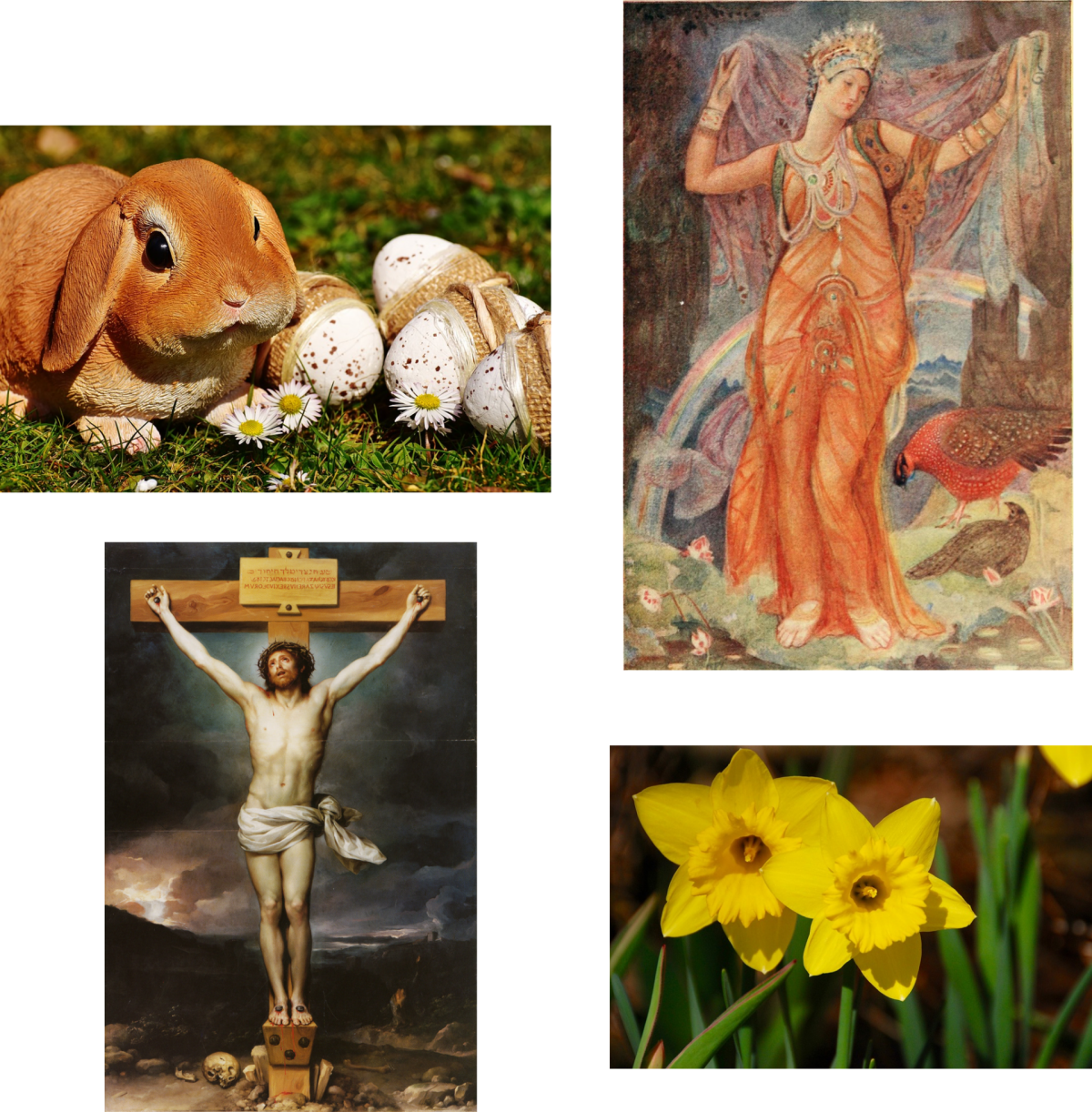 Harmony UU member Karen Gottschall explores the confluence of peoples, ideas, and cultures represented in our modern celebrations of Easter, April Fool's Day, and other spring traditions.